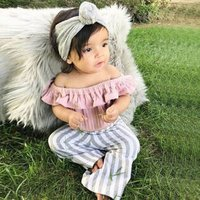 HY063A New arrival 0-4Y kids baby girls clothing sets clothes summer set