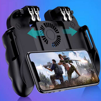 H9 Mobile Game Controller Joystick L2R2 Cooling Fan Gamepad With Battery Joypad Handle Controller 4 in 1