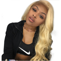 New Star Hair 613 Blonde Full Lace Wig Body Wave Brazilian 100% Human Remy Hair Pre Plucked Hairline 130% Density Lace Wigs