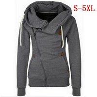Walson Womens Sports Zipper Cardigan Sweater Hoodie Coat 8 Colors S-5XL