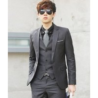 (Jacket+Pant+Tie) Luxury Men Wedding Suit Male Blazers Costume Business Formal Party Classic Slim Fit Suits For Men