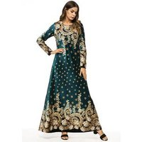 muslim printing women kaftan with embroidery wholesale