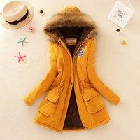 Winter Women Jacket Long Down Jacket Padded Coat Ladies Slim Hooded Parka New
