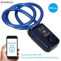 80cm Keyless Phone APP Control Bluetooth Lock Wire Rope Smart Lock Anti Theft Alarm Waterproof 110dB Alarm Bicycle Lock