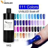 VENALISA enamel uv gel 1kg raw material nail polish color changing nail polish varnish oem private your own logo nail polish