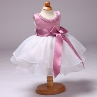 Kid Frock Design Cute Cloth Party Princess Summer Organic Boutique Clothing Flower Wear 2 Year Old Baby Girl Dress
