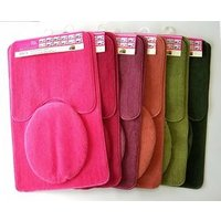 3PCS solid color acrylic  bathroom bath mat set,Home fashion, good quality,competitive price