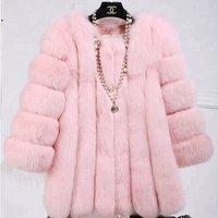 New Fashion Hot Sell Shaggy Faux Fur Coat For Women AutumnandWinterandSpring