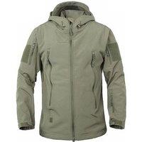2018 Mens Fashion Waterproof Sport Coats Zipper Military Jacket Hooded Windbreaker