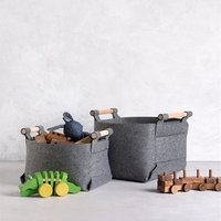 Best Selling Felt Wool Toy Detachable Laundry Storage Basket For Kids Home