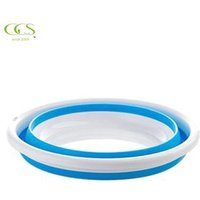 Small Multi-purpose collapsible Light weight Folding Convenient Plastic Wash Basin/footbath Basin for Camping Fishing Outdoor
