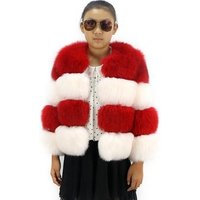 KAMAGU FUR  Real Fox  Fur Down Jacket  Kid Girls  Fur Coats