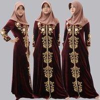Velvet Abaya Korean Cloth New Model Kaftan Guangzhou Wholesale Clothing Embroidery Abaya Design Dubai Picture
