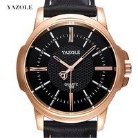 Yazole 358 Brand Luxury Famous Men Watch Business Leather Watch Male Clock Fashion Leisure Dress Quartz Watch Relogio Masculino