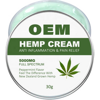 Private label Effective Pain Relief Natural CBD Hemp Pain Relief Cream