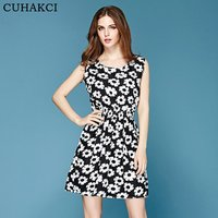 Factory Price Boho Printed Short Casual Women Dresses Mini 20 Designs Party Floral Sleeveless Summer Dress