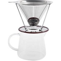 Reusable Stainless Steel Pour Over Coffee Filter with Removable Cup Stand