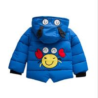Wholesale winter infant toddler kids padded coat baby girls boys cartoon jacket coat oem accept