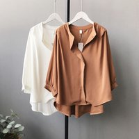 Hot sale tops long ladies blouse and tshirt designs for women