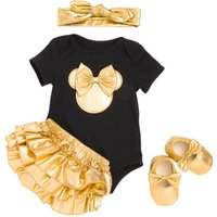 LSF11 Baby Rompers Outfits Mickey Minnie Cartoon Baby Girl Clothes Infant Newborn Baby Jumpsuits 4Pcs Clothing Set