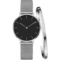 Fashion jewellery Stainless Steel Bracelets and Waterproof Watch Set for mens and women