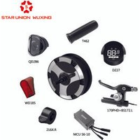 Wuxing electric scooter conversion kit parts motor controller wheels brakes display meters grips lights accessories.