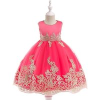 Baby Floral Child Kid Fashionable Clothing Latest Design Princess Party Cloth Beautiful Birthday Flower Girl Dress