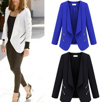 Ladies Blazer Personality Zipper Pocket Jacket Long Sleeve Slim Suit Jackets For Women Business Blazers Autumn Y10776
