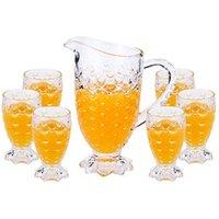 Wholesale High Quality water jug drinking cup set teapot China Tea pot glass Set