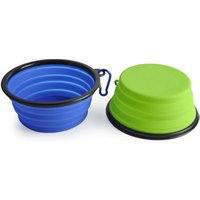 'Portable Collapsible Pet Silicone Dog Bowl With Carabiner