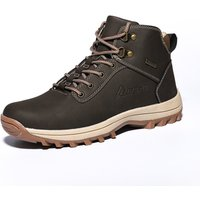 Large size Mens Climbing Mountain Boots Outdoor Anti-Slip Action Waterproof Hiking Shoes Trekking