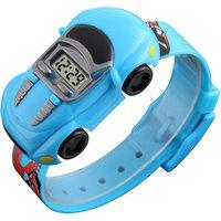 Led kid digital cheap watch wholesale  for boy cartoon car wrist watch children cheap kids watches