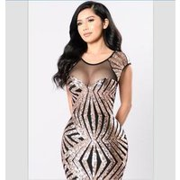 sequin celebrity dress boutique cheap gold and silver bandage dress 2017