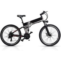 Front Rear Suspension Lithium Electric Bicycle 48V 10.4AH Hidden Battery 26 Inch Foldable Electric Bicycle
