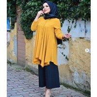 New arrival  women loose muslim dress blouse for islamic muslim blouse