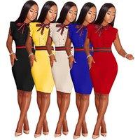 2019 Hot sale women solid sleeveless knee length pencil dress