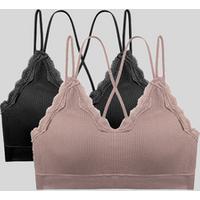 1229# hot selling wholesale cross strap sexy back V neckline whorl fabric wireless seamless girls bra women underwear chest wrap