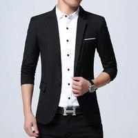 Mens smart  3 piece suit summer plaid brand slim fit casual blazer