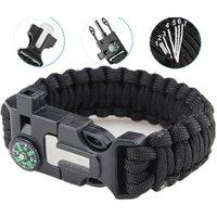 'Paracord Bracelet Survival Gear Kit With Embedded Compass, Fire Starter, Emergency Knife & Whistle Survival Bracelet