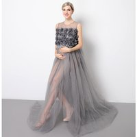 Wholesale Maternity Evening clothing Dress manufacturers By Pregnant Women Sexy Maternity gown photography Dress for Photo Shoot