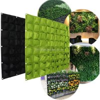 72 Pocket Wall Balcony Herbs Indoor Vertical Garden Hanging Outdoor Felt Planter Bag