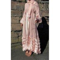 Kaftan Dubai Abaya Kimono Robe Muslim Hijab Dress Abayas For Women Caftan Marocain Turkish Clothing