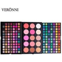 VERONNI 183 Colors Combo 3 Layers Makeup Palette Kit 168 Eyeshadow+9 Color Blusher+ 6 Color Contour Make Up Set