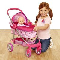 'Deluxe Pram For Baby Dolls Toy Doll Stroller For Girls