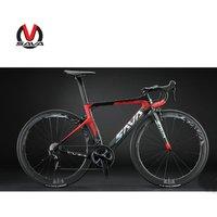 SAVA 700C 50MM wheelset light weight carbon fiber frame road bike with 22 speed