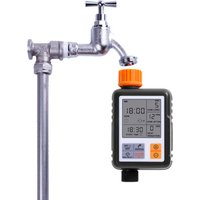 Large LCD Irrigation Water Timer Digital Timer Programmable Water Pump Controller With 1/2 and 3/4 Inches