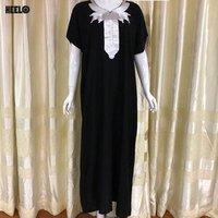 Muslim Dress Dubai Kaftan for Women  Arabic Long Dress Abaya Islamic Clothing Girls Caftan Jalabiya Monocolour dress