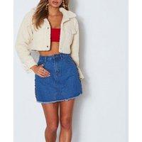 Black White Women Fleece Button Crop Fur Women warm Winter Jacket Faux Furry cashmere fashion short coat