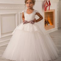 Boutique Wholesale Kids Girl Dress Wedding Party Girls Ball Gown Sleeveless Ruffles Tulle Bridesmaid Dresses