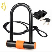 high security combination Bicycle cable  U-lock motorcycle anti-theft mountain bike steel cable bar lock  car lock